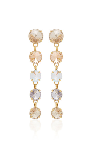 Roxanne Assoulin Gold-Plated Brass And Crystal Earrings