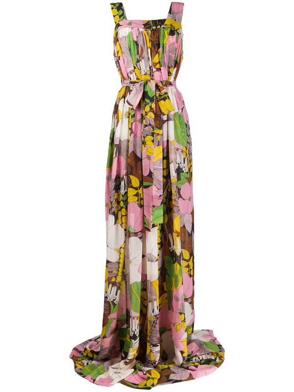 La Doublej Mimosa floral print dress in pink