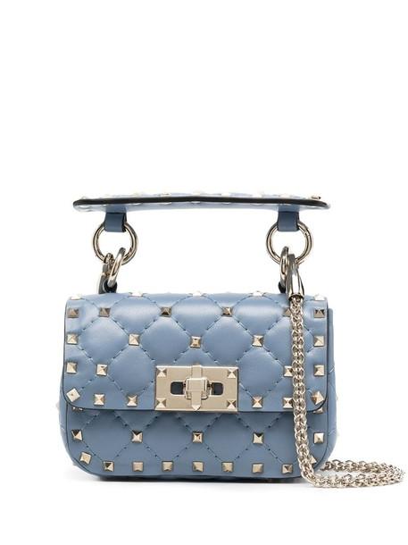 Valentino Garavani mini Rockstud Spike tote bag in blue