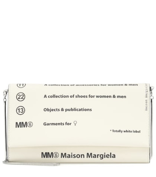 MM6 Maison Margiela Printed PVC clutch in white