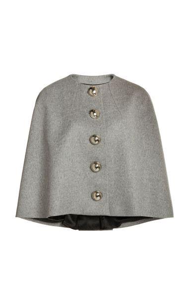 Paco Rabanne Wool-Blend Cape in grey
