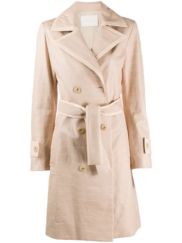 Drome double-breasted belted coat in neutrals