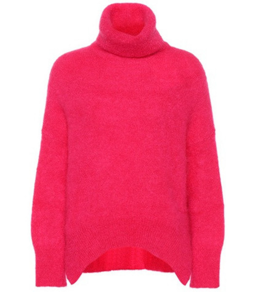 Valentino Mohair-blend turtleneck sweater in pink