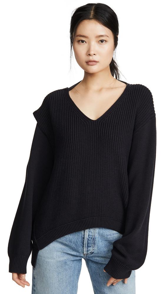 alexanderwang.t Utility V Neck Sweater in black
