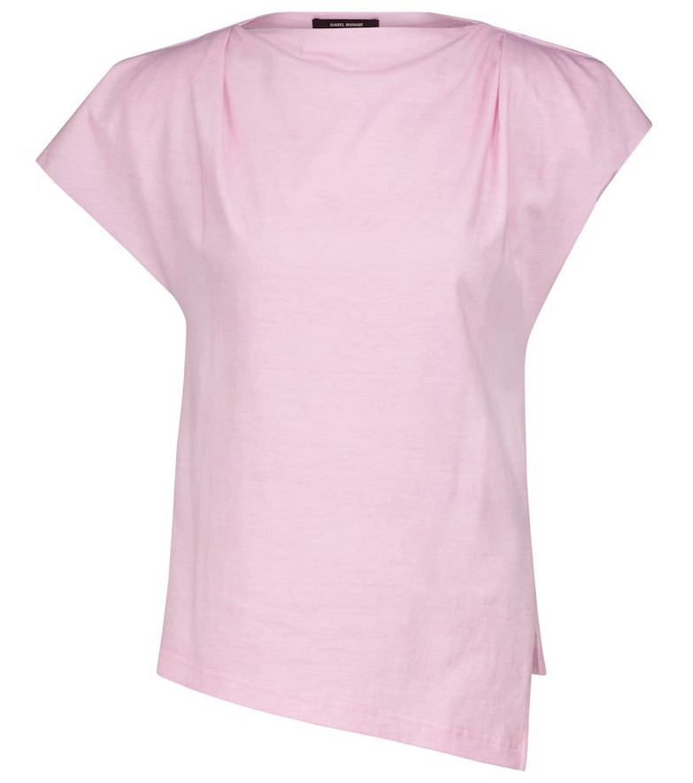 Isabel Marant Sebani cotton T-shirt in pink