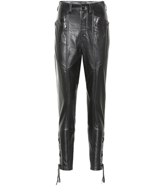 Isabel Marant Cadix leather pants in black