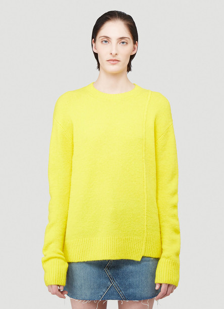 Acne Studios Textured Knit Sweater in Yellow size M