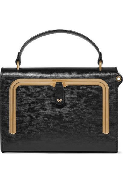 Anya Hindmarch - Postbox Small Textured-leather Tote - Black