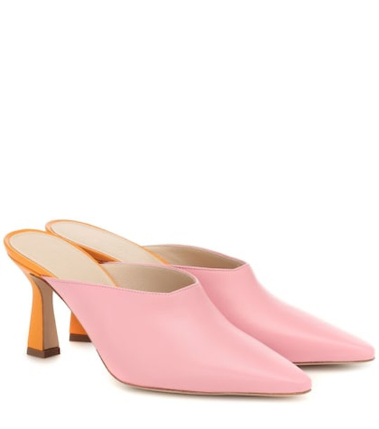 Wandler Lotte leather mules in pink