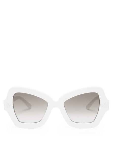 Celine Eyewear - Butterfly Acetate Sunglasses - Womens - White