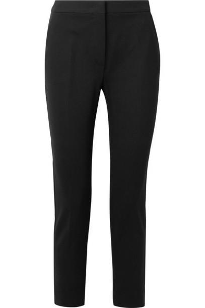 Max Mara - Pegno Cropped Stretch-cady Slim-leg Pants - Black