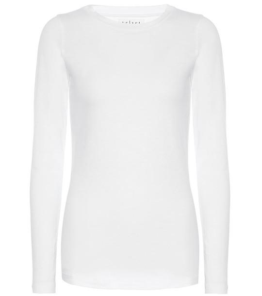 Velvet Zofina stretch-cotton top in white