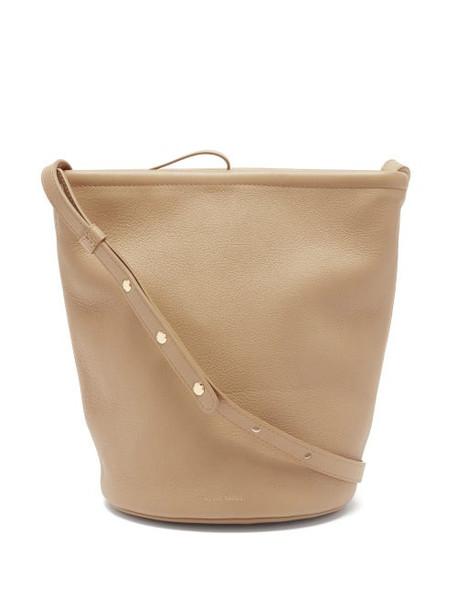 Mansur Gavriel - Zip Bucket Medium Leather Shoulder Bag - Womens - Beige