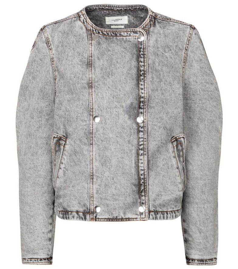 Isabel Marant, Étoile Lisoa cropped denim jacket in grey