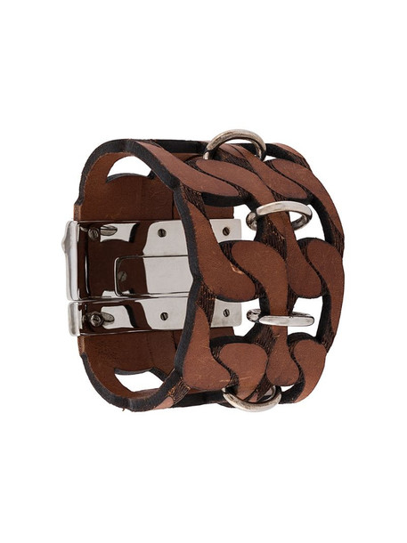 Gianfranco Ferré Pre-Owned 2000s cut-out bracelet in brown