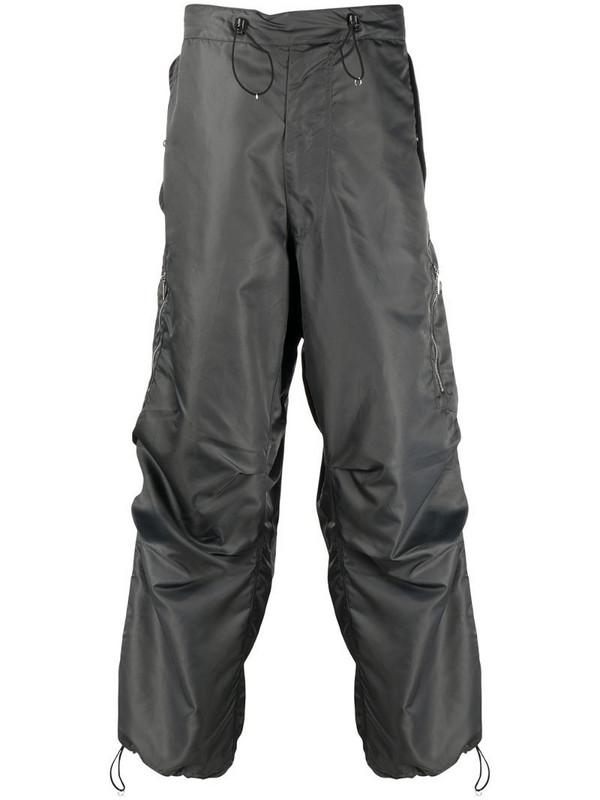 Random Identities two-tone design trousers in grey