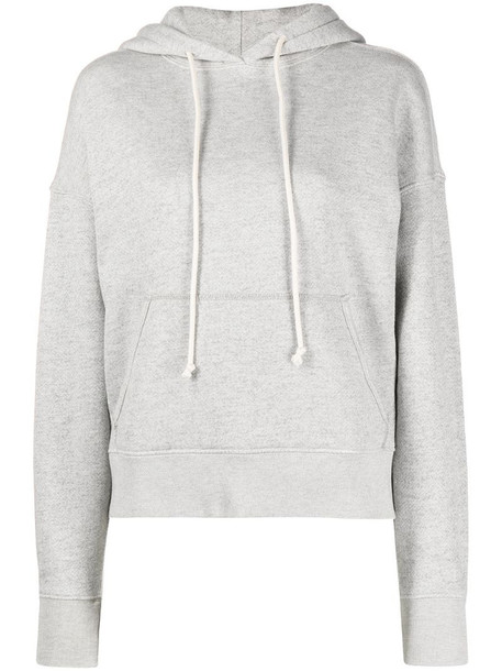RE/DONE classic drawstring hoodie in grey