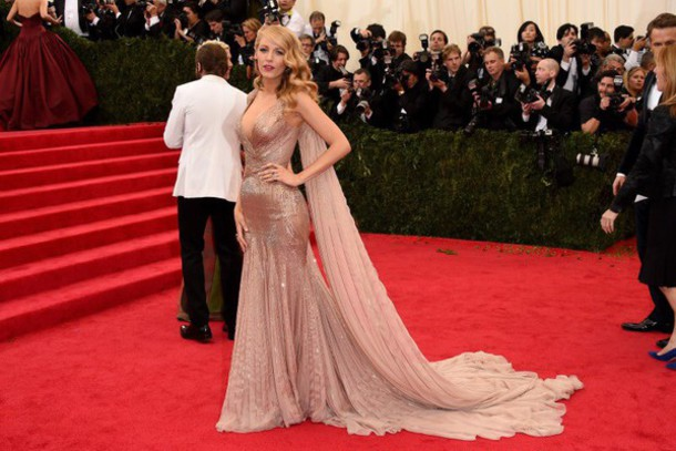 dress blake lively gown beautiful pink pink dress