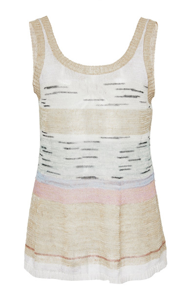 Missoni Sleeveless Jacquard-Knit Top Size: 38 in neutral