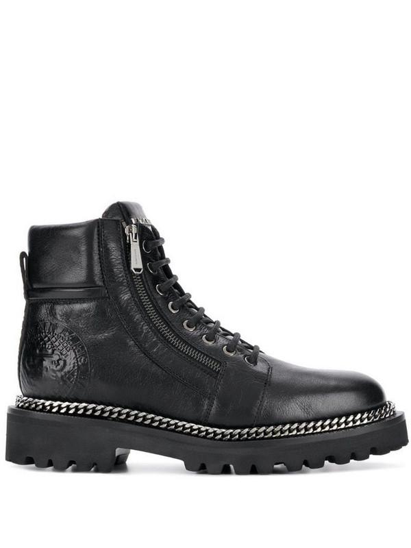 Balmain side zip boots in black