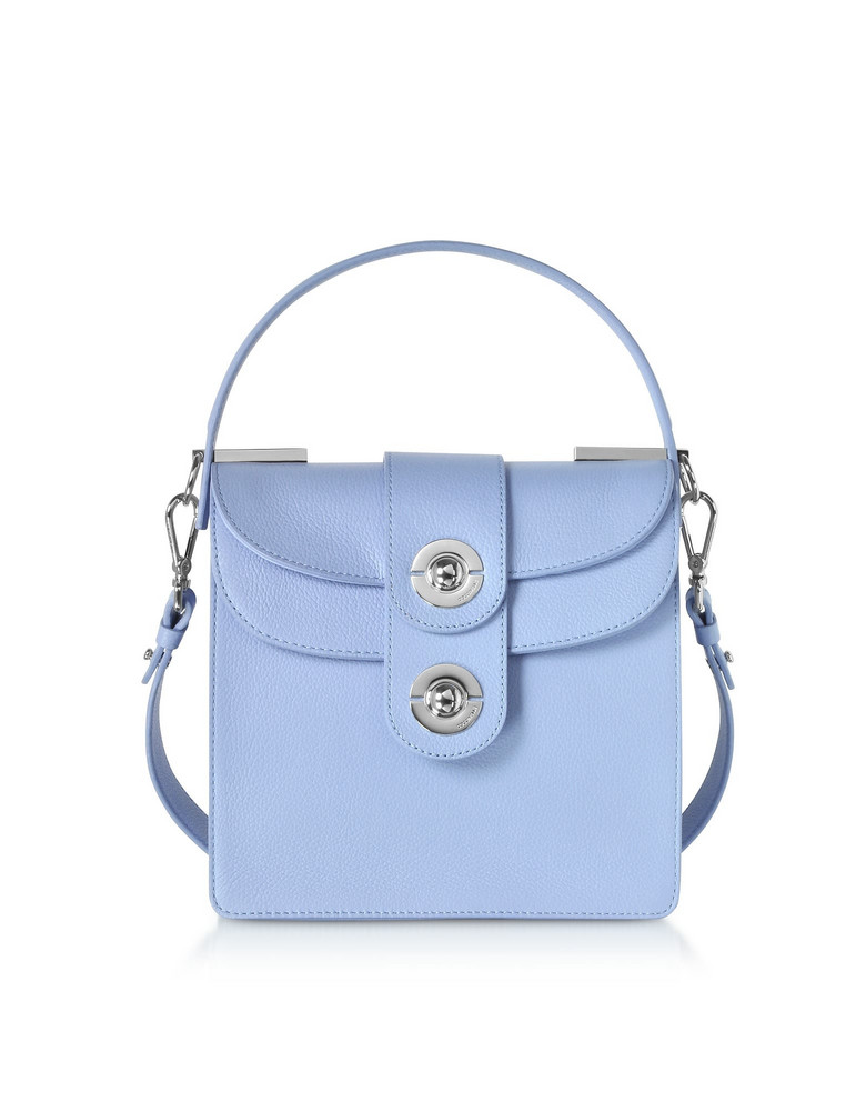 Coccinelle Leila Leather Shoulder Bag in lilac