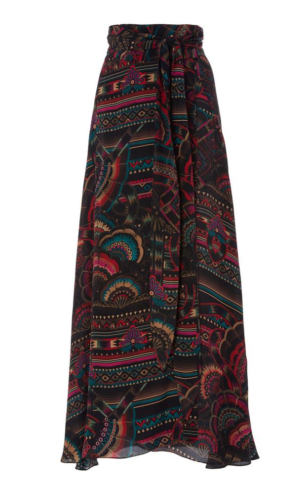 Chufy Illari Wrap-Effect Broadcloth Maxi Skirt in print