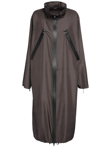 BOTTEGA VENETA Nylon Parka Coat in brown