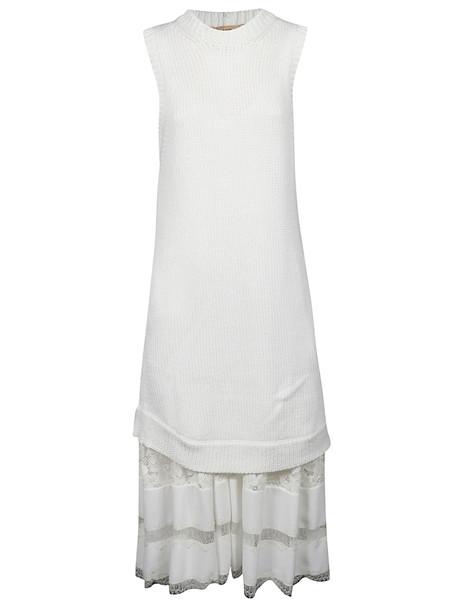 N.21 Layered Dress in white