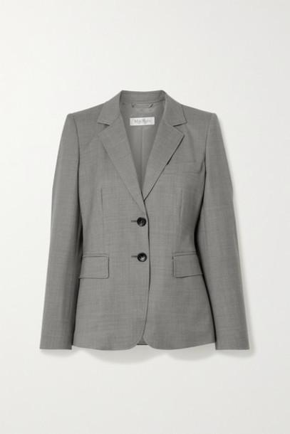 Max Mara - Visiera Wool Blazer - Gray