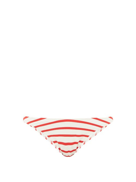Solid & Striped - The Vanessa Striped Bikini Briefs - Womens - Red Stripe