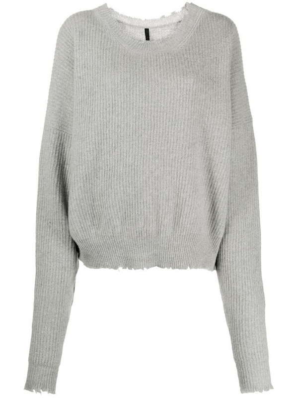 UNRAVEL PROJECT slouchy knitted jumper in grey