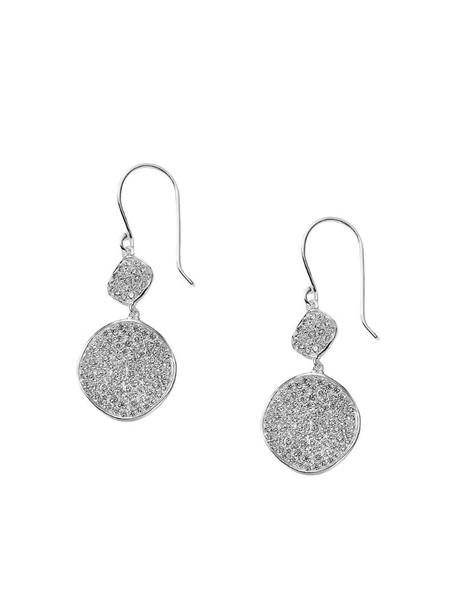 IPPOLITA sterling silver Stardust diamond flower snowman earrings