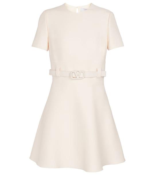 Valentino VLOGO crêpe couture minidress in white