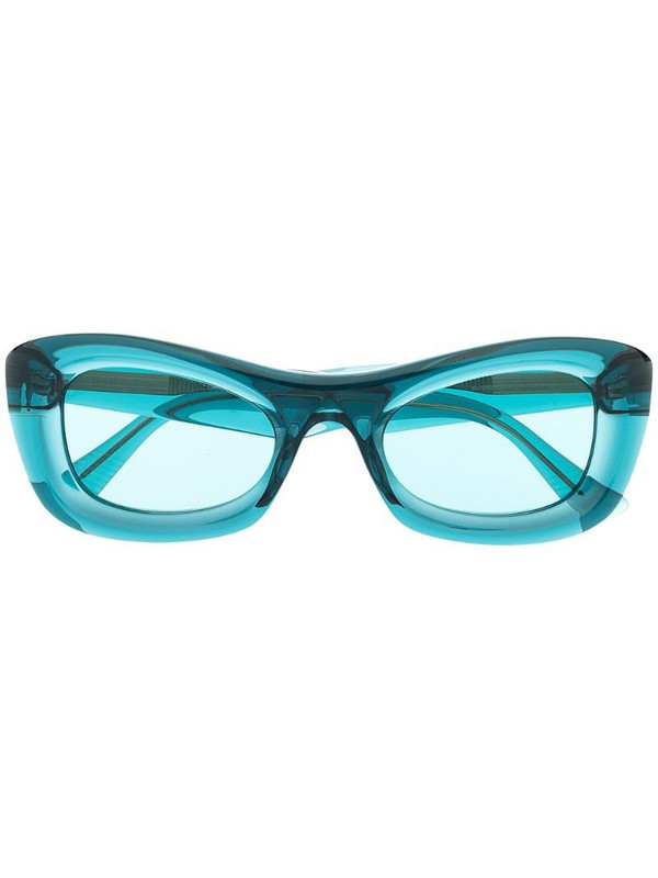 Bottega Veneta Eyewear BV1088S rectangular-frame sunglasses in blue