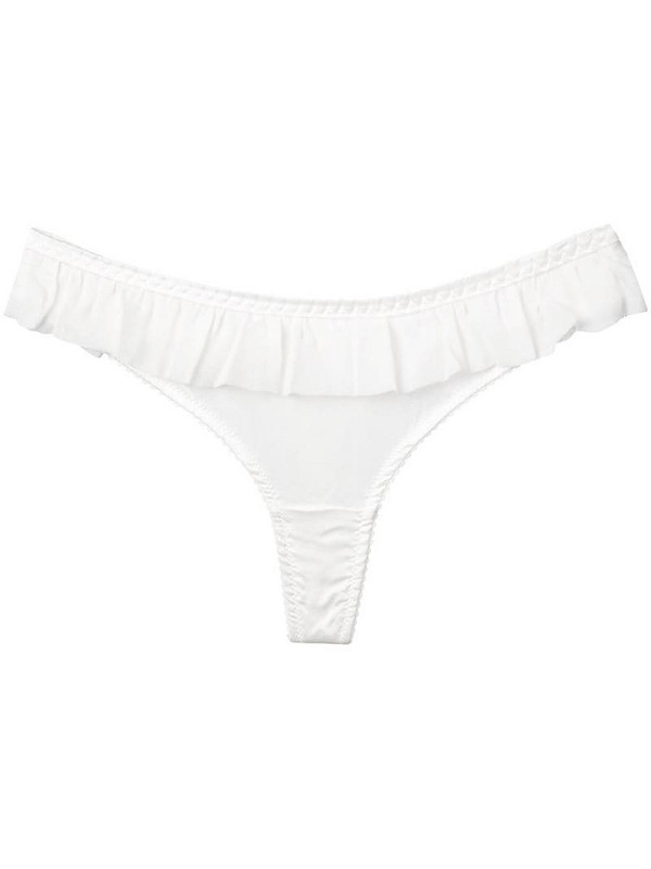 Gilda & Pearl Bardot frilled trimmed thong in white