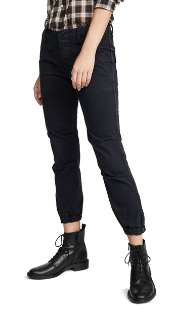 Nili Lotan Cropped French Military Pants with Tape in navy