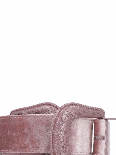 B-Low the Belt Bri Bri Velvet Belt in pink