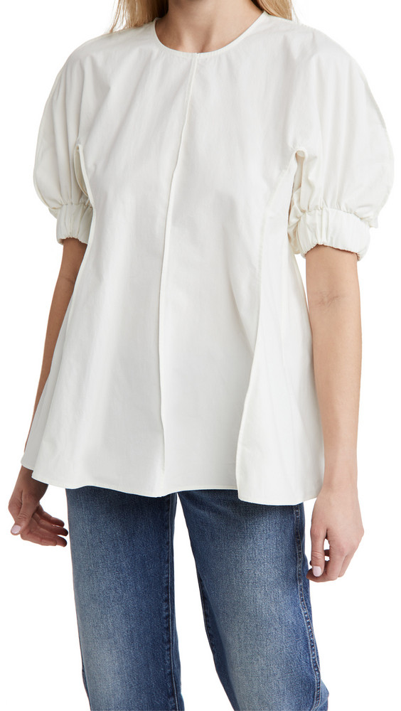 Deveaux Carrie Top in white