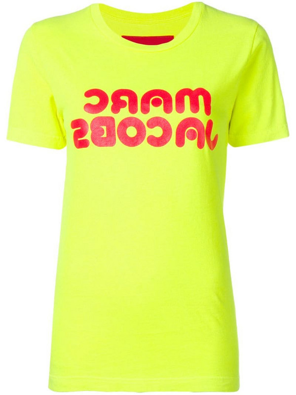 Marc Jacobs logo print T-shirt in yellow