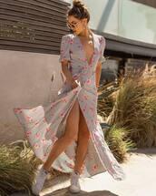 dress,grey dress,maxi dress,striped dress,spring outfits