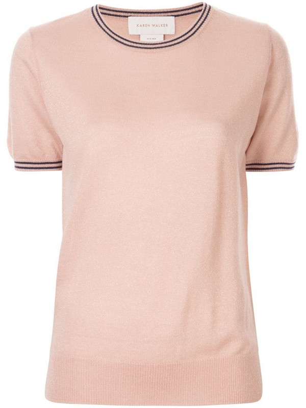 Karen Walker Apollo T-shirt in pink
