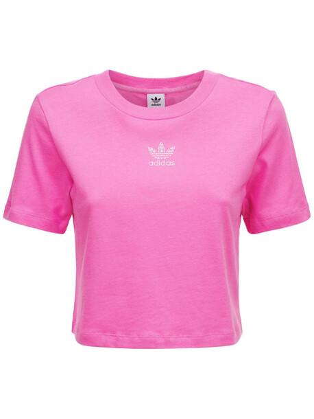 ADIDAS ORIGINALS Cropped T-shirt in pink