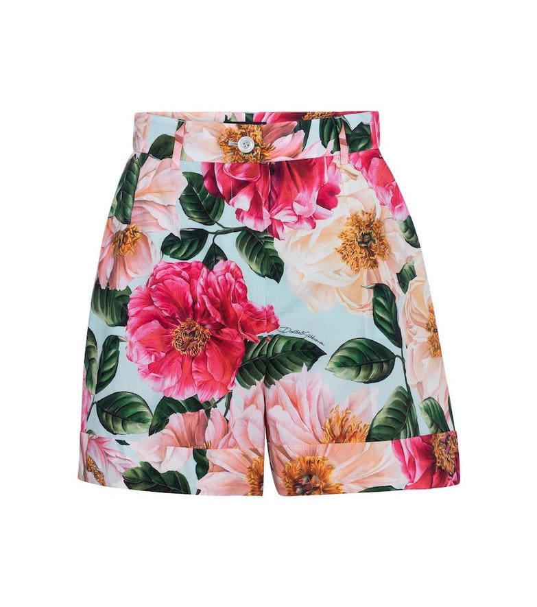 Dolce & Gabbana Floral cotton shorts