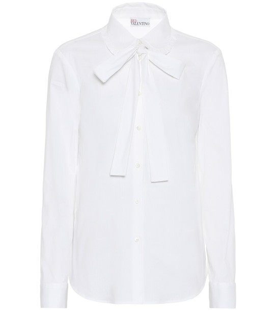REDValentino Cotton-blend blouse in white