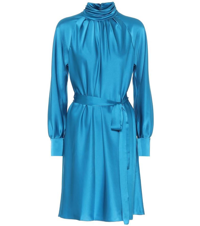 Diane von Furstenberg Vida satin dress in blue