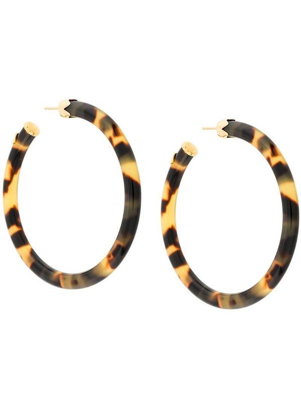 Gas Bijoux CAFTAN hoop earrings in brown