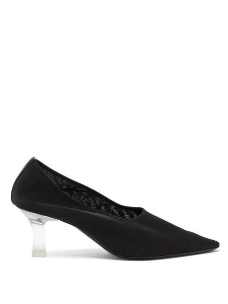 The Row - Sock Acetate-heel Point-toe Mesh Pumps - Womens - Black