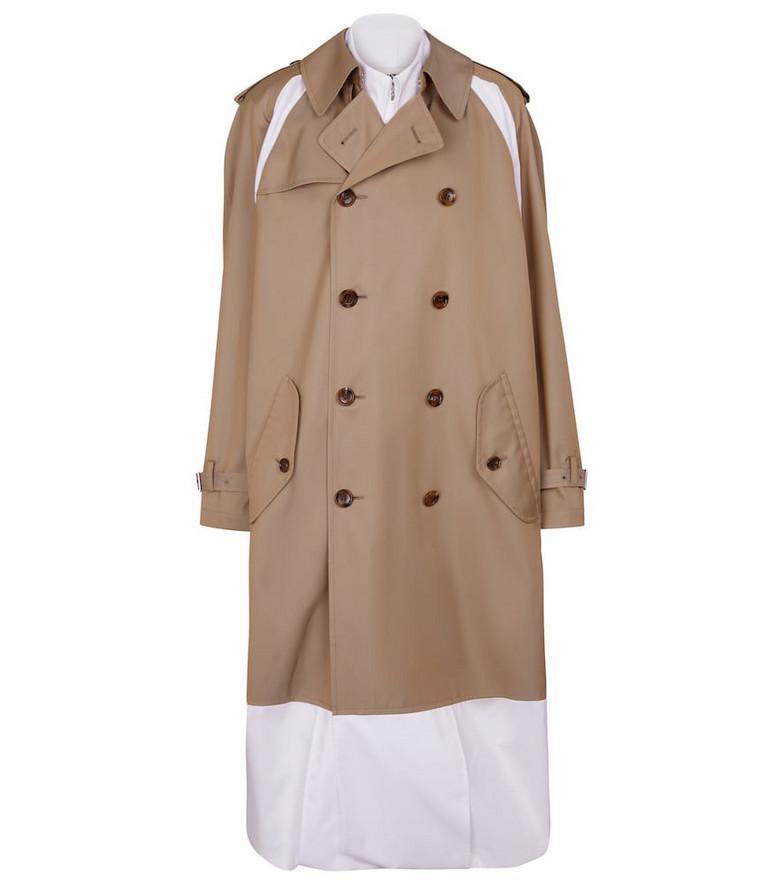 Junya Watanabe Cotton trench coat in beige