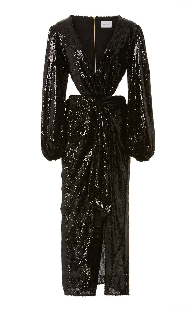 Alice McCall Electric Orchid Sequined-Chiffon Gown Size: 6 in black