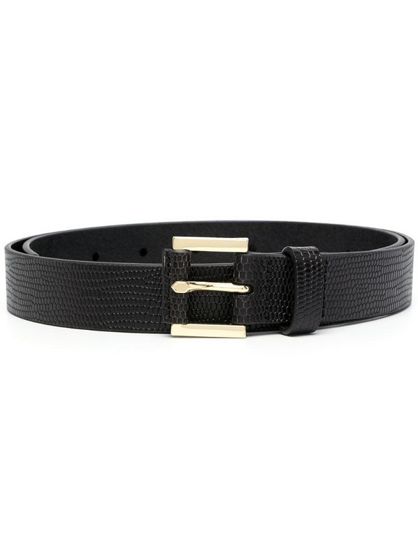 FRAME Le Square lizard-skin-effect belt in black